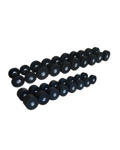 Primal Set d'Haltères Caoutchouc 2.5-25kg (10 paires) + Rack