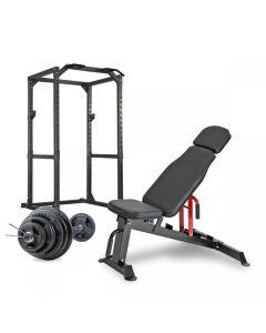 Bodybuilding Pack Titulaire Robuste Résistance Titane + Banque + Disques